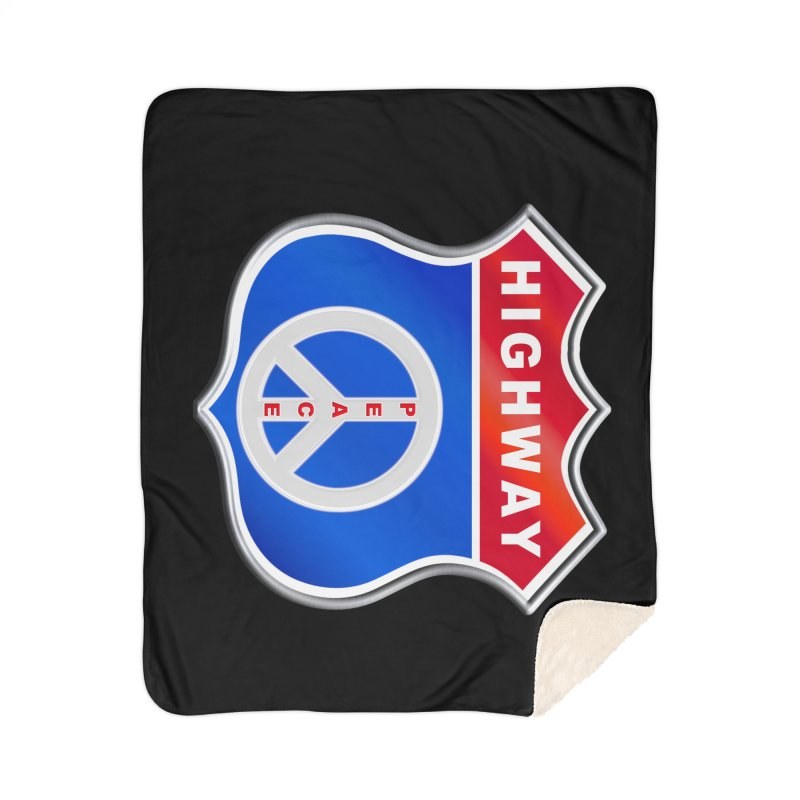 Highway To Peace Shirts Hoodies Buttons n More Home Sherpa Blanket Blanket by Leading Artist Shop