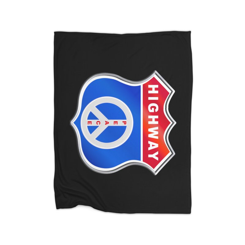 Highway To Peace Shirts Hoodies Buttons n More Home Fleece Blanket Blanket by Leading Artist Shop