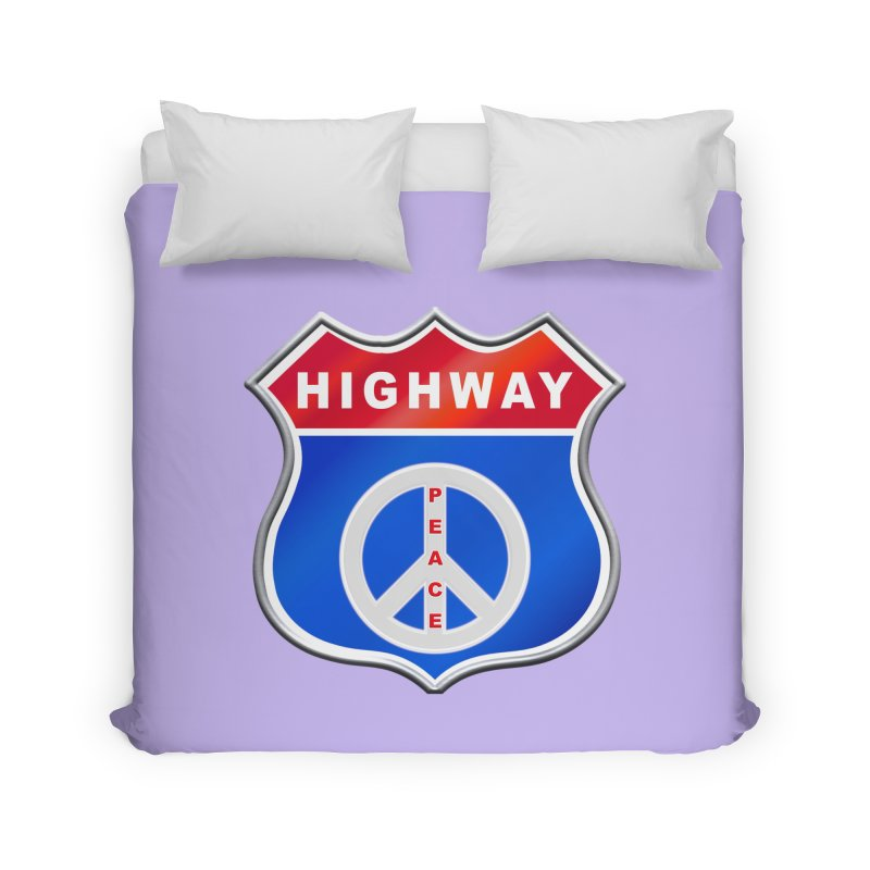 Highway To Peace Shirts Hoodies Buttons n More Home Duvet by Leading Artist Shop