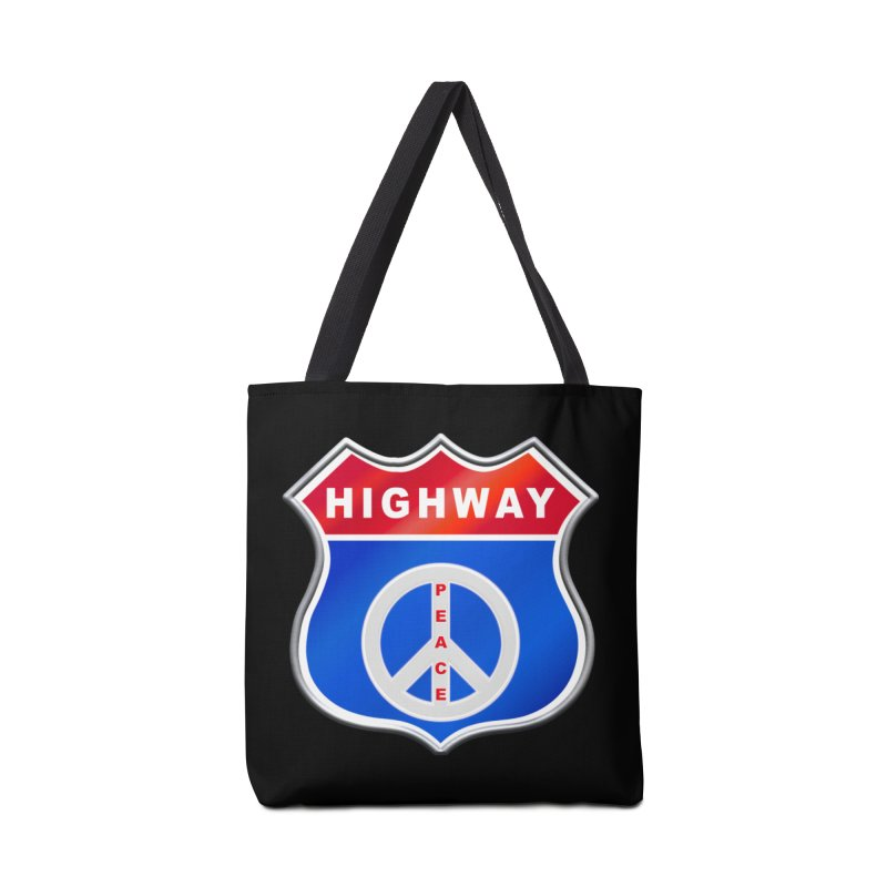 Highway To Peace Shirts Hoodies Buttons n More Accessories Tote Bag Bag by Leading Artist Shop
