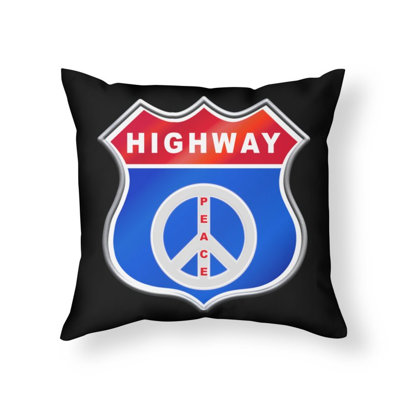Highway To Peace Shirts Hoodies Buttons n More Home Throw Pillow by Leading Artist Shop
