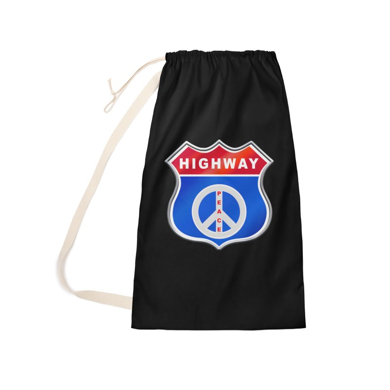 Highway To Peace Shirts Hoodies Buttons n More Accessories Laundry Bag Bag by Leading Artist Shop