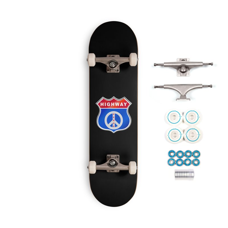 Highway To Peace Shirts Hoodies Buttons n More Accessories Complete - Basic Skateboard by Leading Artist Shop