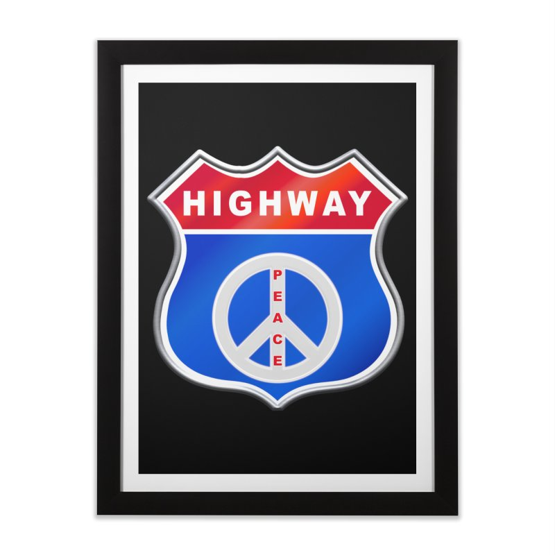 Highway To Peace Shirts Hoodies Buttons n More Home Framed Fine Art Print by Leading Artist Shop