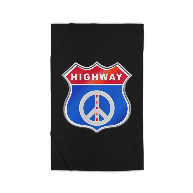 Highway To Peace Shirts Hoodies Buttons n More Home Rug by Leading Artist Shop