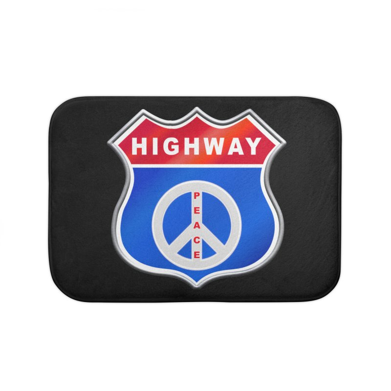 Highway To Peace Shirts Hoodies Buttons n More Home Bath Mat by Leading Artist Shop