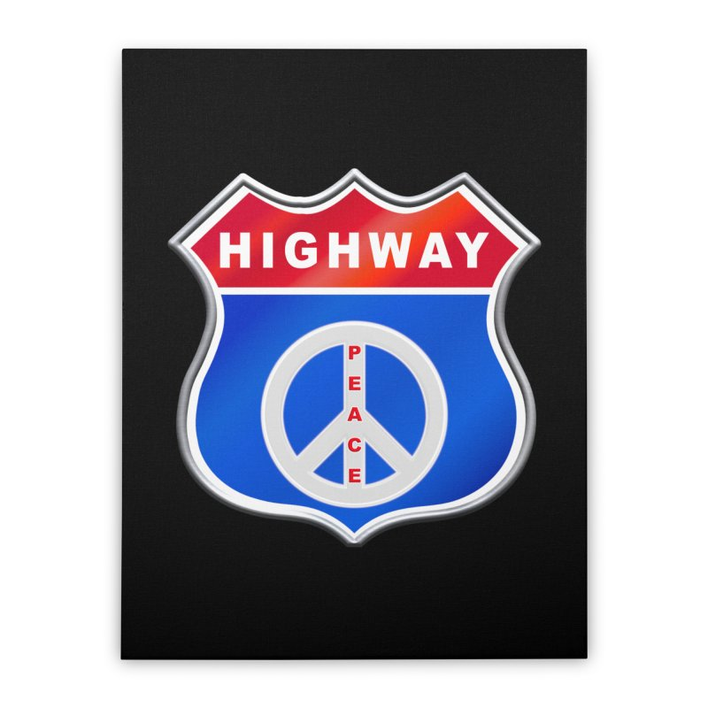 Highway To Peace Shirts Hoodies Buttons n More Home Stretched Canvas by Leading Artist Shop