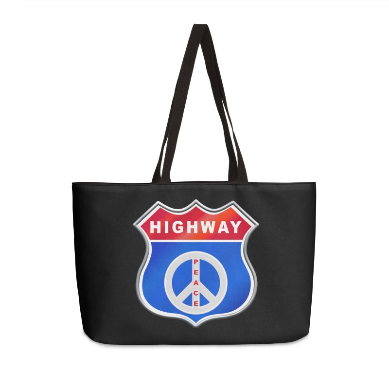Highway To Peace Shirts Hoodies Buttons n More Accessories Weekender Bag Bag by Leading Artist Shop