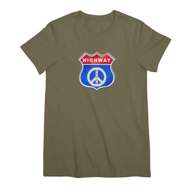 Highway To Peace Shirts Hoodies Buttons n More Women's Premium T-Shirt by Leading Artist Shop