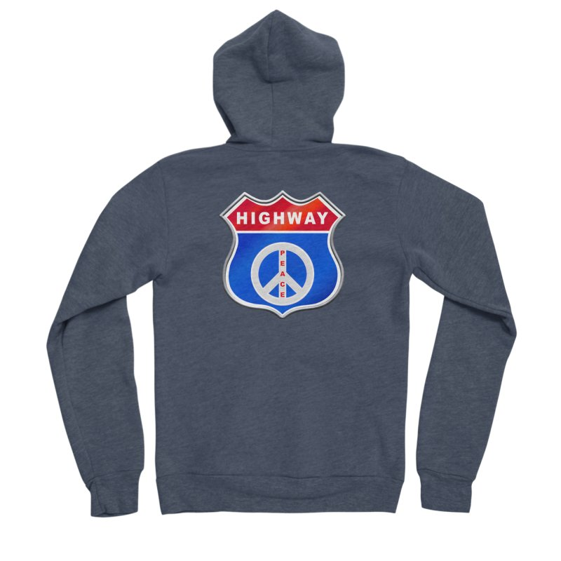 Highway To Peace Shirts Hoodies Buttons n More Men's Sponge Fleece Zip-Up Hoody by Leading Artist Shop