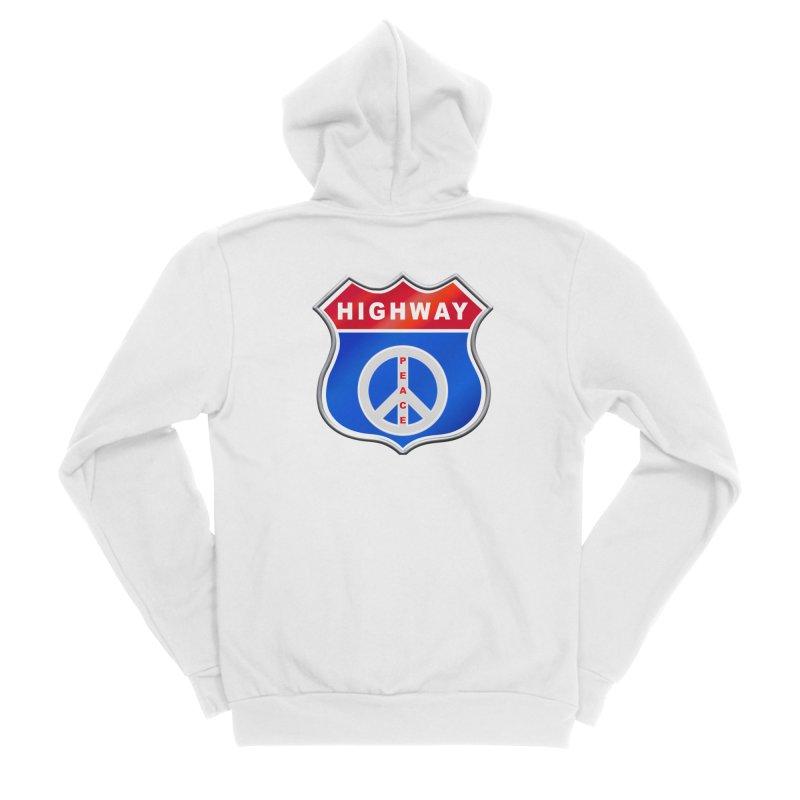 Highway To Peace Shirts Hoodies Buttons n More Women's Sponge Fleece Zip-Up Hoody by Leading Artist Shop