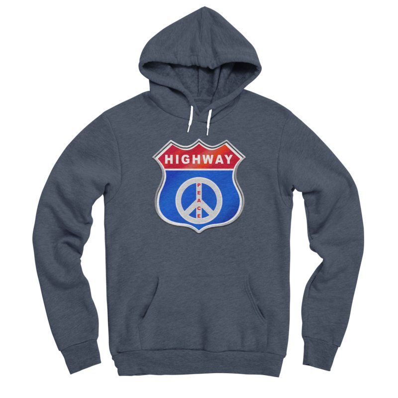 Highway To Peace Shirts Hoodies Buttons n More Men's Sponge Fleece Pullover Hoody by Leading Artist Shop