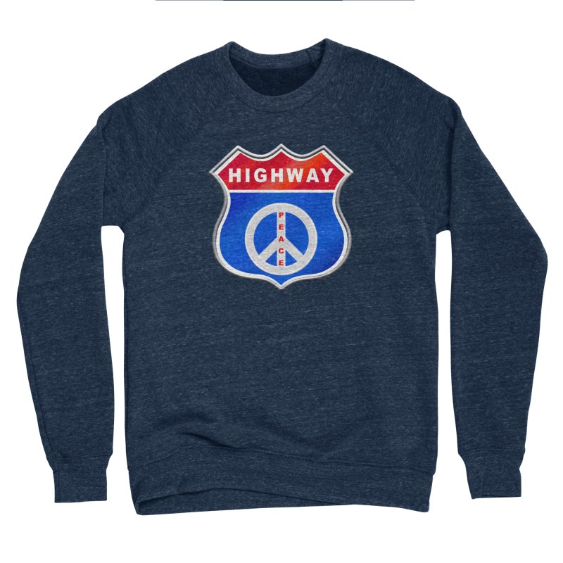 Highway To Peace Shirts Hoodies Buttons n More Women's Sponge Fleece Sweatshirt by Leading Artist Shop