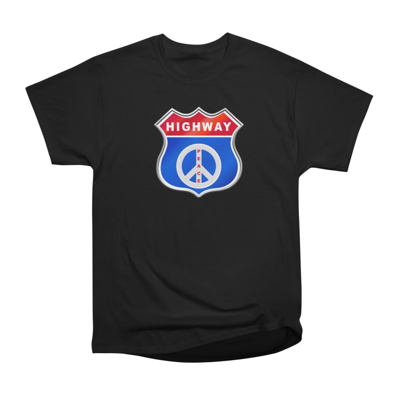 Highway To Peace Shirts Hoodies Buttons n More Men's Heavyweight T-Shirt by Leading Artist Shop