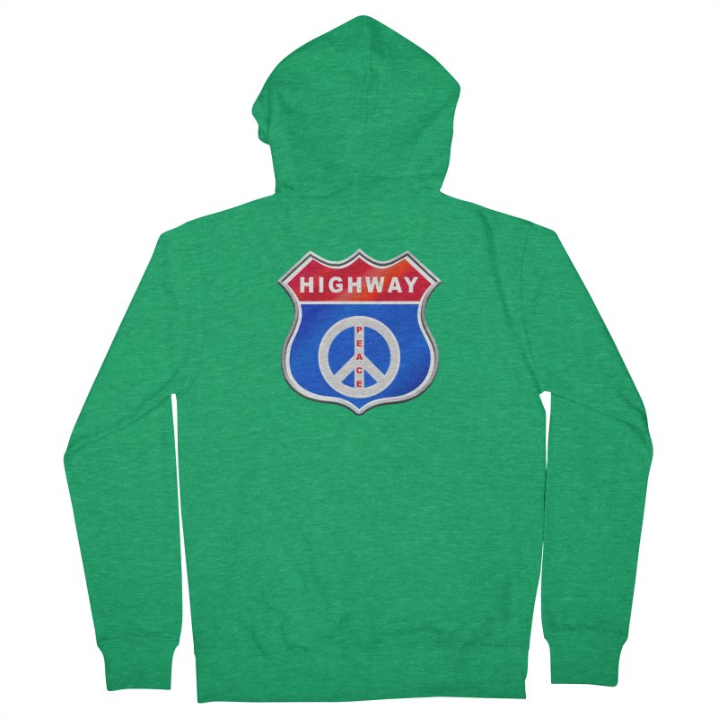 Highway To Peace Shirts Hoodies Buttons n More Women's French Terry Zip-Up Hoody by Leading Artist Shop