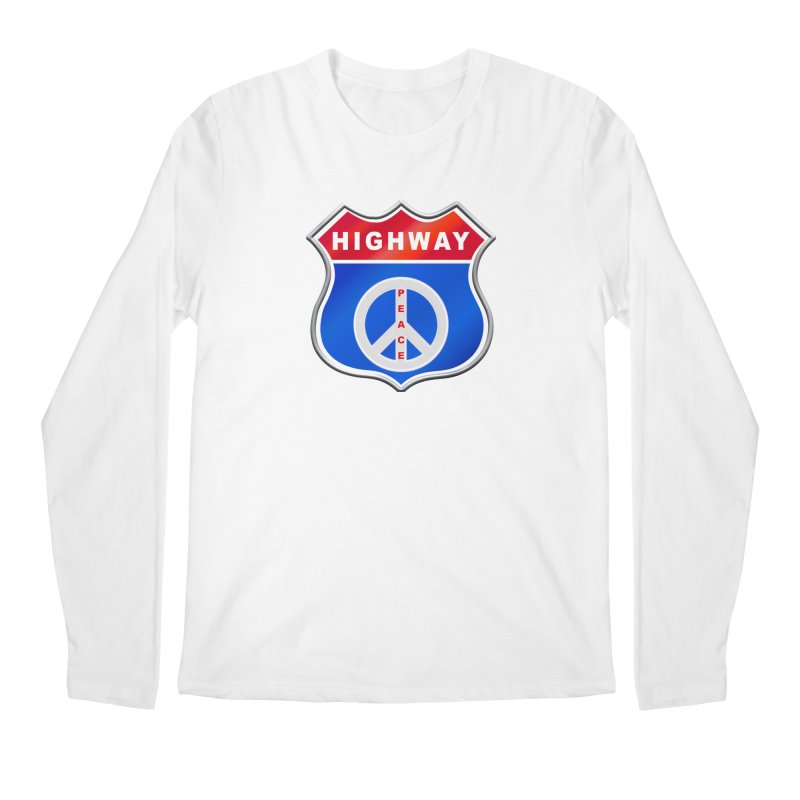 Highway To Peace Shirts Hoodies Buttons n More Men's Regular Longsleeve T-Shirt by Leading Artist Shop