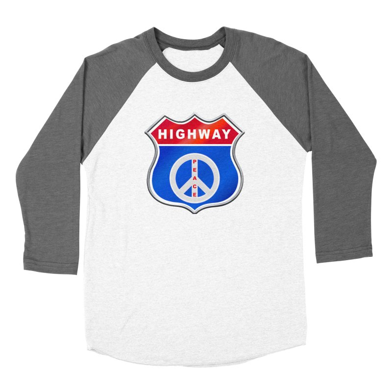 Highway To Peace Shirts Hoodies Buttons n More Women's Baseball Triblend Longsleeve T-Shirt by Leading Artist Shop