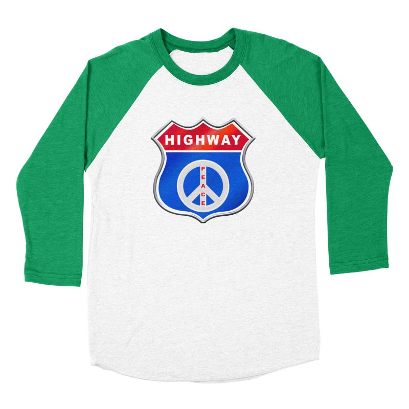 Highway To Peace Shirts Hoodies Buttons n More Men's Baseball Triblend Longsleeve T-Shirt by Leading Artist Shop
