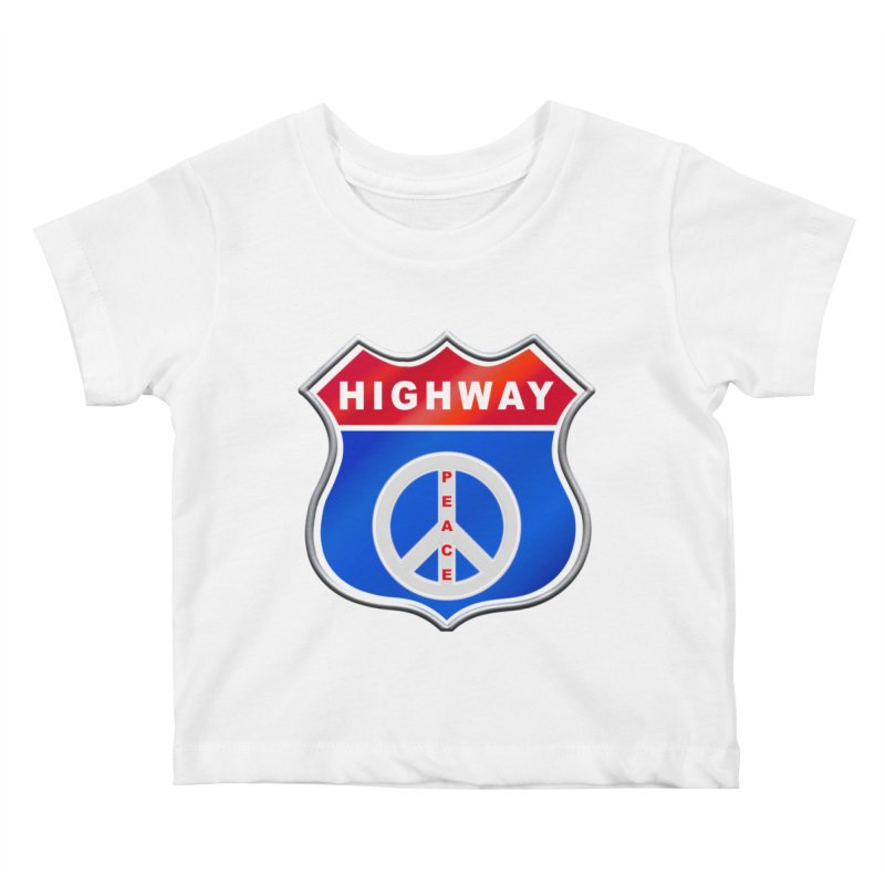 Highway To Peace Shirts Hoodies Buttons n More Kids Baby T-Shirt by Leading Artist Shop