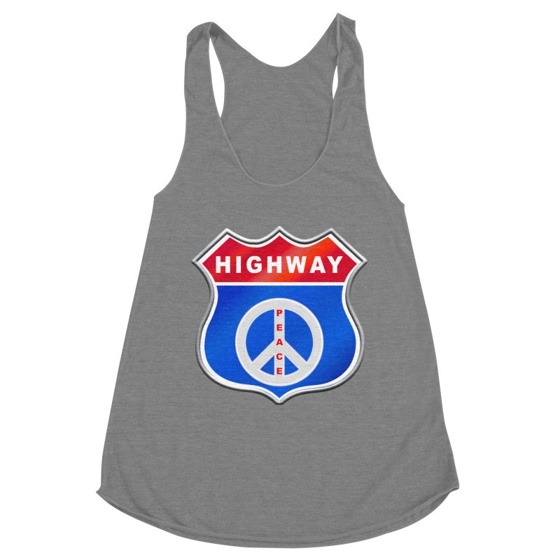 Highway To Peace Shirts Hoodies Buttons n More Women's Racerback Triblend Tank by Leading Artist Shop