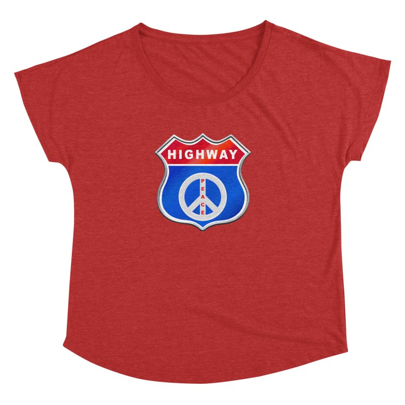 Highway To Peace Shirts Hoodies Buttons n More Women's Dolman Scoop Neck by Leading Artist Shop