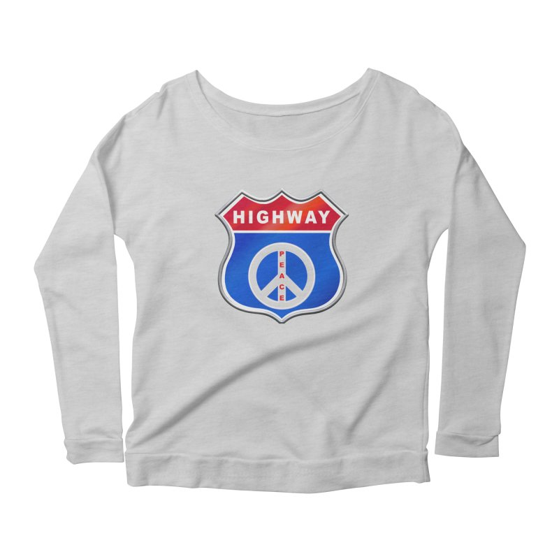 Highway To Peace Shirts Hoodies Buttons n More Women's Scoop Neck Longsleeve T-Shirt by Leading Artist Shop