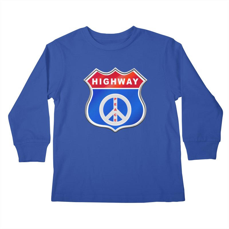 Highway To Peace Shirts Hoodies Buttons n More Kids Longsleeve T-Shirt by Leading Artist Shop