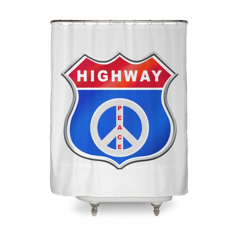 Highway To Peace Shirts Hoodies Buttons n More Home Shower Curtain by Leading Artist Shop