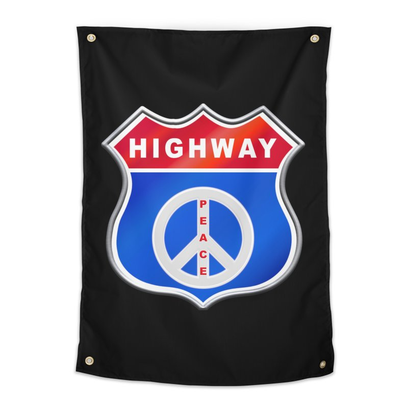Highway To Peace Shirts Hoodies Buttons n More Home Tapestry by Leading Artist Shop