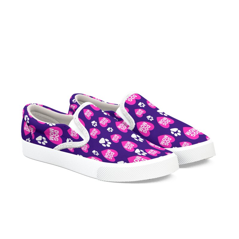 Dog Mom FurBaby Love Shirt and Shoes Women's Slip-On Shoes by Leading Artist Shop