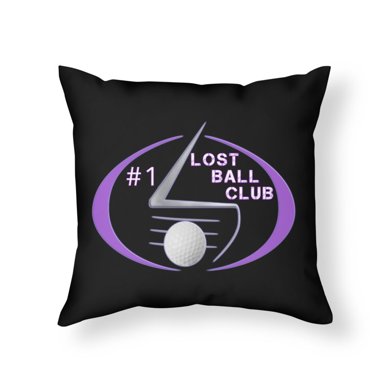 Lost Ball Club - Funny Golf Shirt Home Throw Pillow by Leading Artist Shop