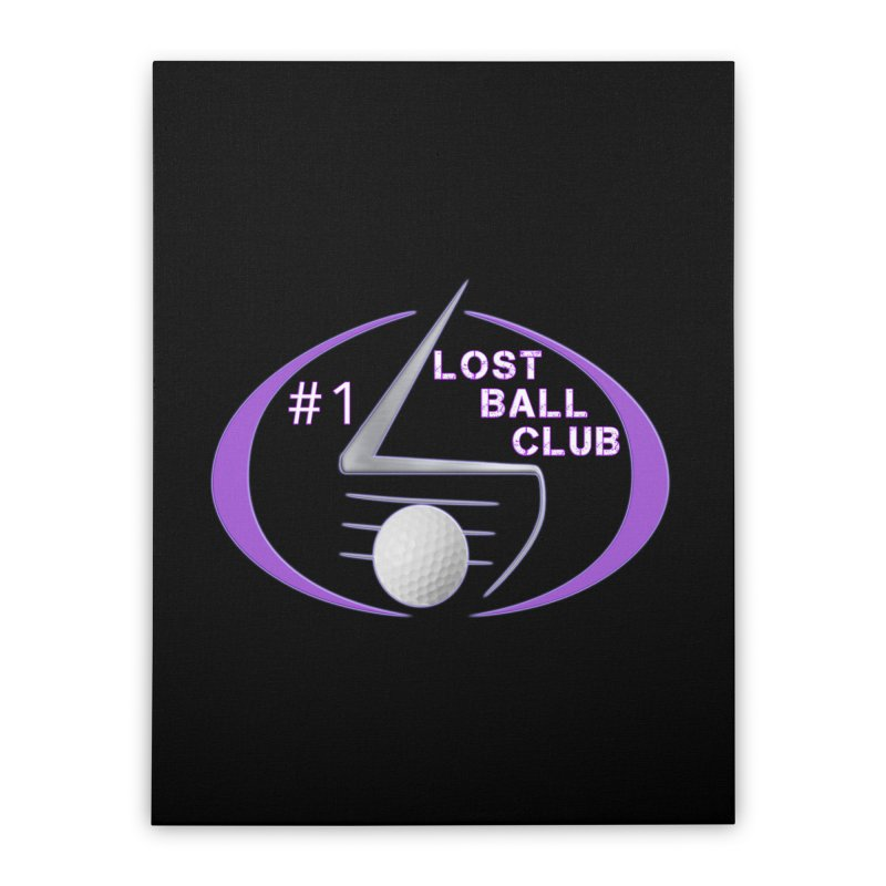 Lost Ball Club - Funny Golf Shirt Home Stretched Canvas by Leading Artist Shop