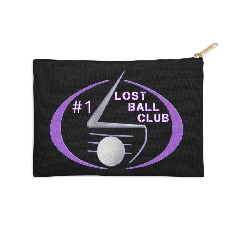 Lost Ball Club - Funny Golf Shirt Accessories Zip Pouch by Leading Artist Shop