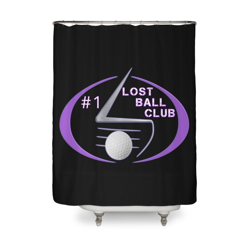 Lost Ball Club - Funny Golf Shirt Home Shower Curtain by Leading Artist Shop
