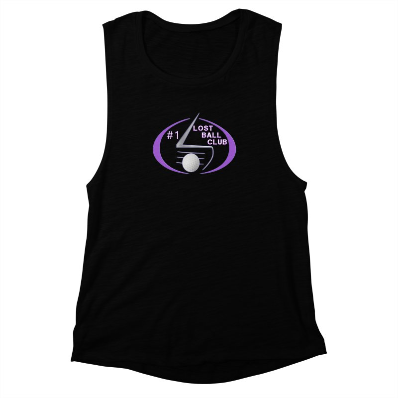 Lost Ball Club - Funny Golf Shirt Women's Muscle Tank by Leading Artist Shop