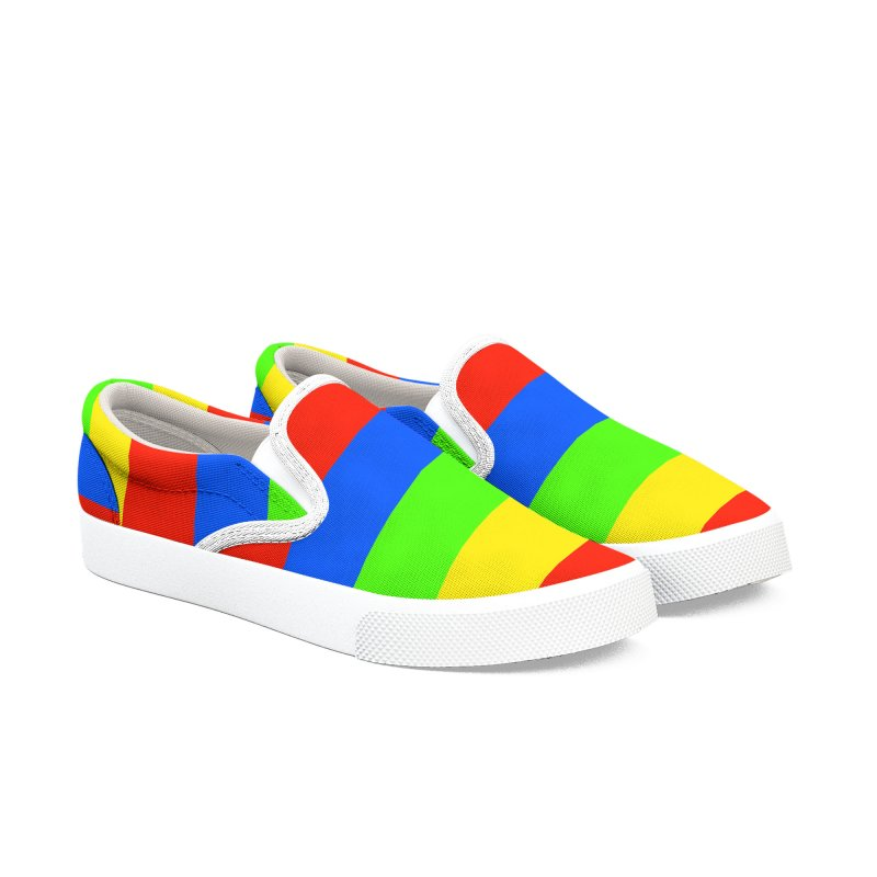 Canvas Comfortable Striped Shoes Men's Slip-On Shoes by Leading Artist Shop