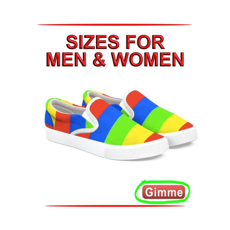 Canvas Comfortable Striped Shoes by Leading Artist Shop