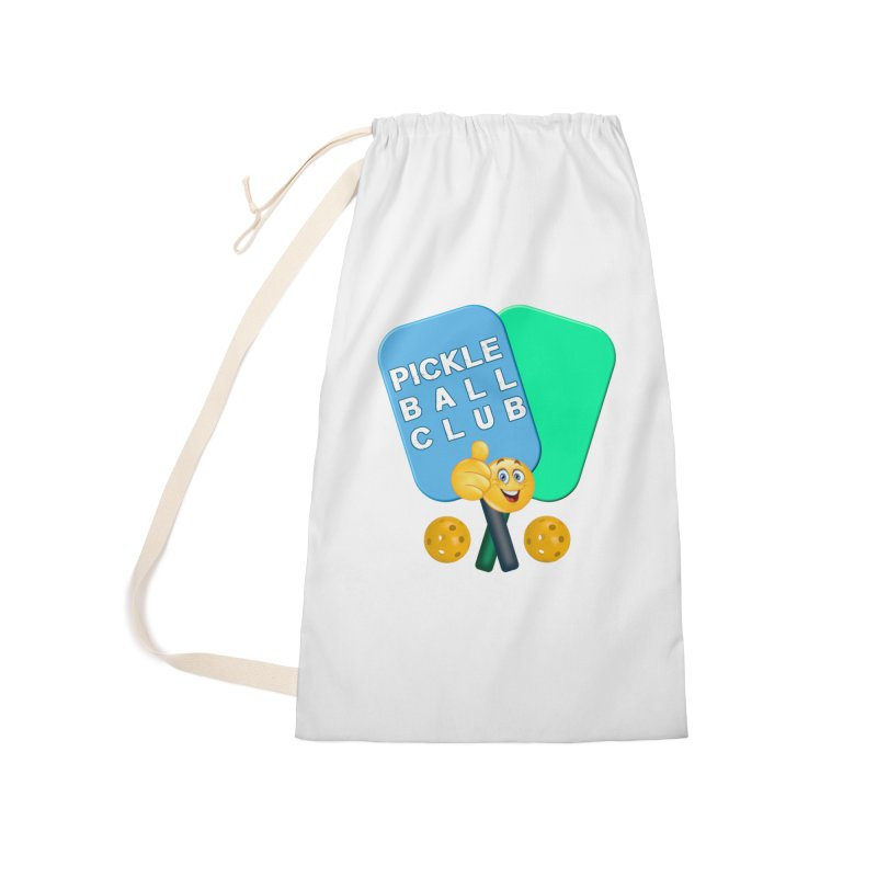 PickleBall Club Accessories Laundry Bag Bag by Leading Artist Shop