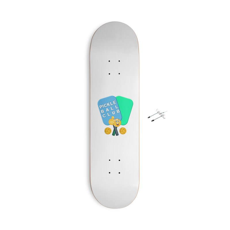 PickleBall Club Accessories With Hanging Hardware Skateboard by Leading Artist Shop