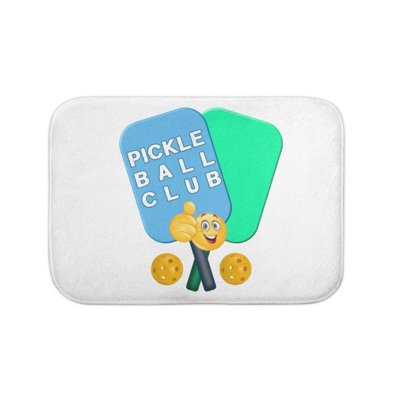 PickleBall Club Home Bath Mat by Leading Artist Shop
