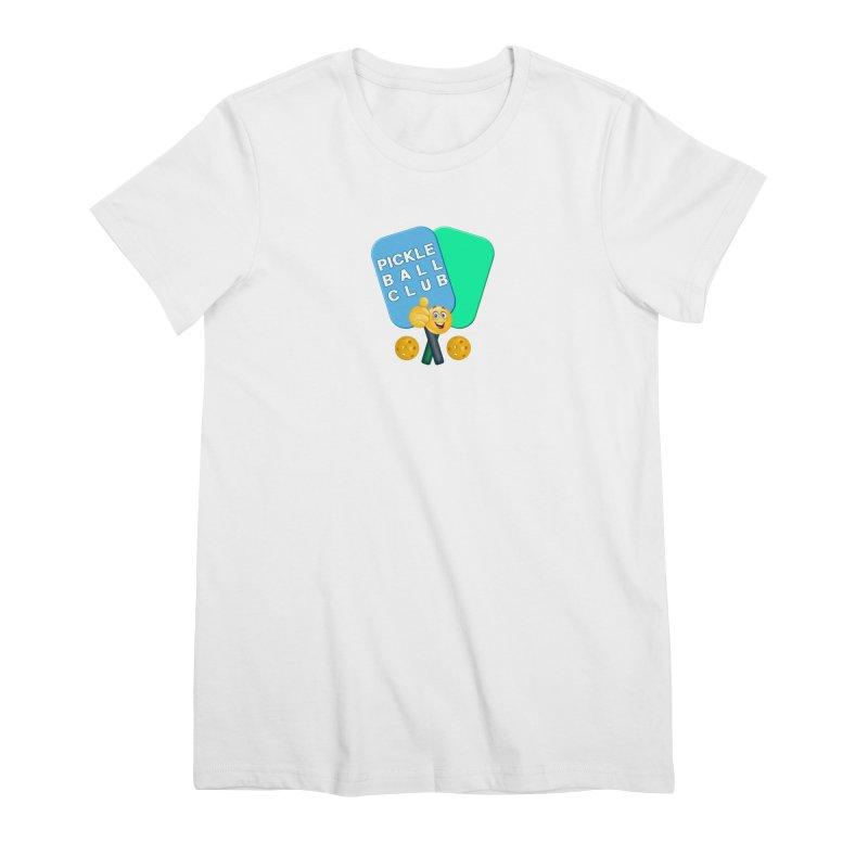 PickleBall Club Women's Premium T-Shirt by Leading Artist Shop
