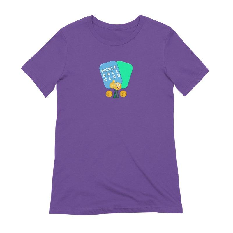 PickleBall Club Women's Extra Soft T-Shirt by Leading Artist Shop