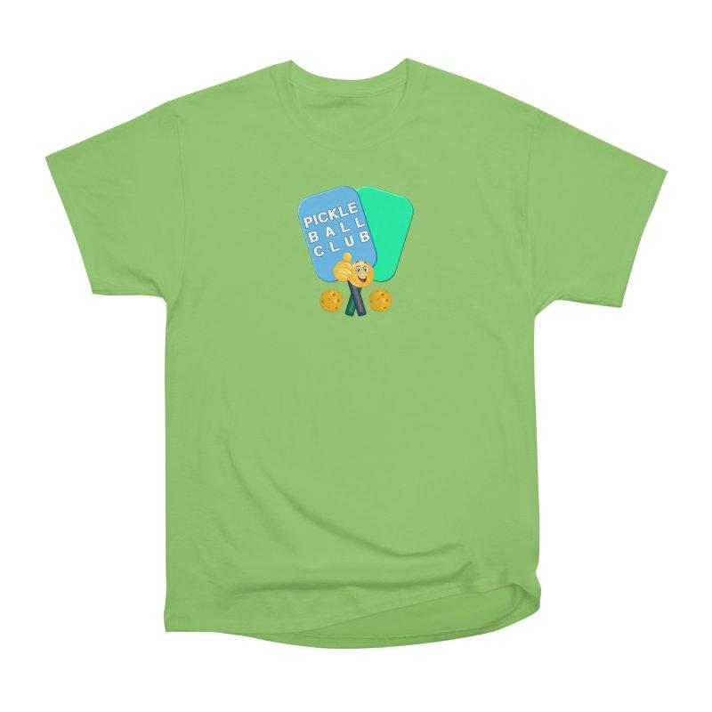 PickleBall Club Women's Heavyweight Unisex T-Shirt by Leading Artist Shop