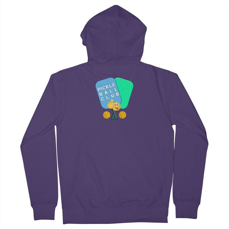 PickleBall Club Women's French Terry Zip-Up Hoody by Leading Artist Shop