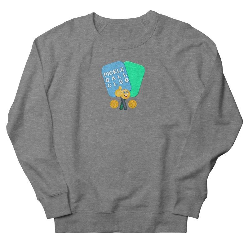 PickleBall Club Women's French Terry Sweatshirt by Leading Artist Shop