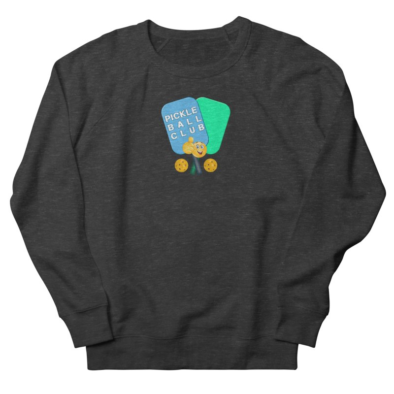PickleBall Club Men's French Terry Sweatshirt by Leading Artist Shop
