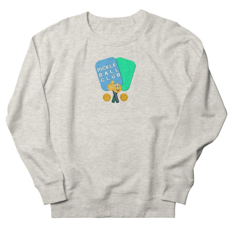 PickleBall Club Men's French Terry Sweatshirt by Leading Artist Shop