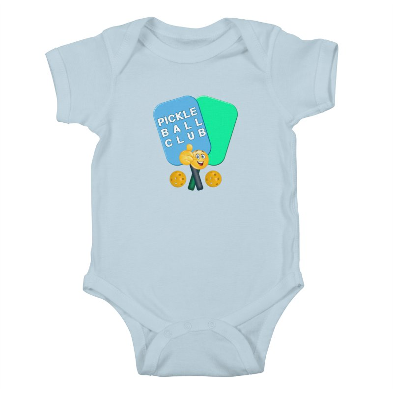 PickleBall Club Kids Baby Bodysuit by Leading Artist Shop