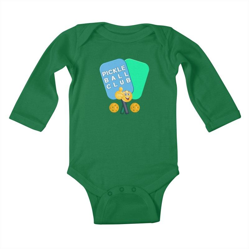 PickleBall Club Kids Baby Longsleeve Bodysuit by Leading Artist Shop