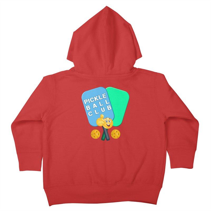 PickleBall Club Kids Toddler Zip-Up Hoody by Leading Artist Shop